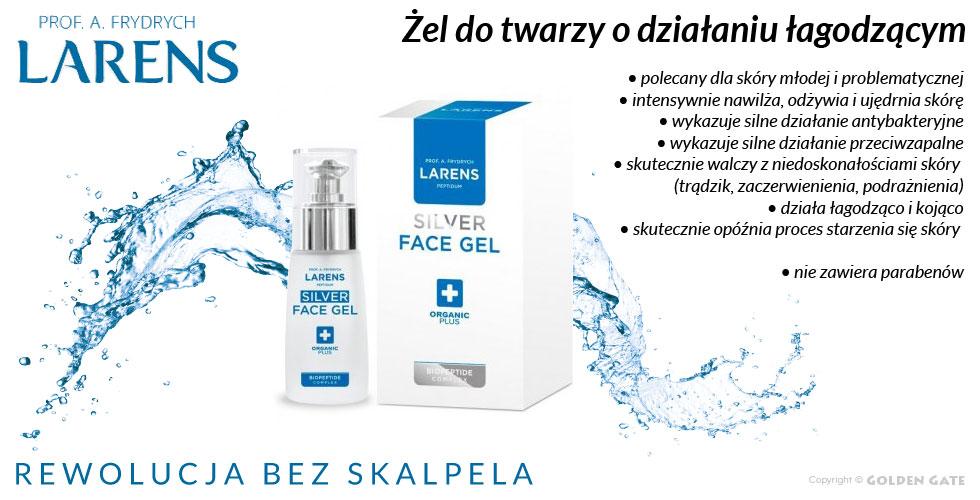 żel do twarzy dla skóry młodej i problematycznej Larens Peptidum Silver Face Gel